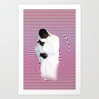 gucci Art Prints featuring GUCCI by POSH OUTSIDERS