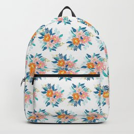 Floral Bloom Bundle in Blue Backpack