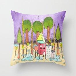 Dream House 2 Throw Pillow