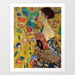 Gustav Klimt Lady With Fan Art Print