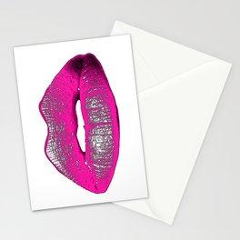 Tricky Pink Lips Stationery Cards