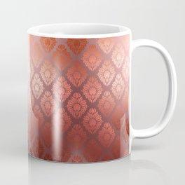 """Millennial Pink Damask Pattern"" Coffee Mug"