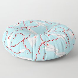 airlines of love Floor Pillow