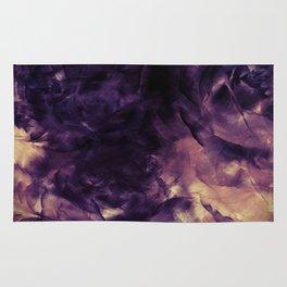 Vintage Deep Purple Bouquet of Roses & Cloulds Rug