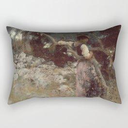 John Singer Sargent - A Capriote Rectangular Pillow