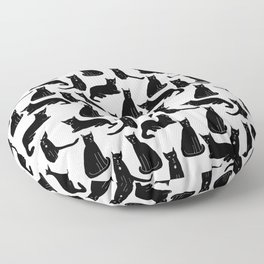 Brothers: Black cats Floor Pillow