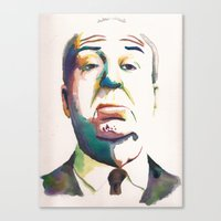 hitchcock Canvas Prints featuring Hitchcock by totemxtotem