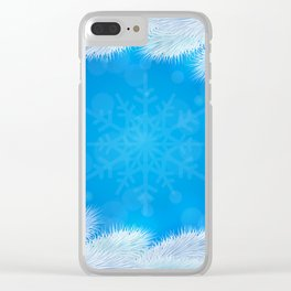 White Christmas tree background Clear iPhone Case