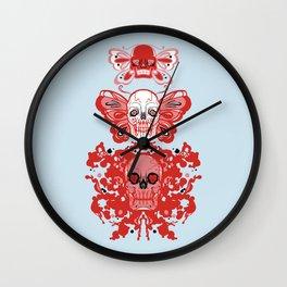 Triple threat skulls Wall Clock