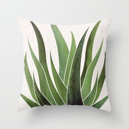 Vintage Agave / Desert Succulent Throw Pillow