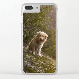 Greek Dog Clear iPhone Case