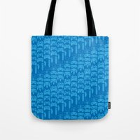 video game Tote Bags featuring Video Game Controllers - Blue by C.Rhodes Design