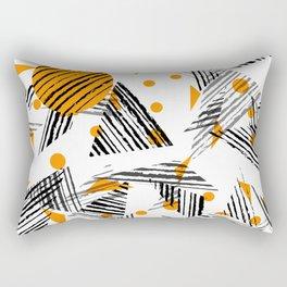 Yellow and Black Geometric Pattern Rectangular Pillow