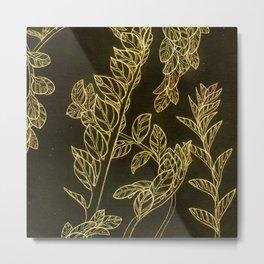 golden school plants Metal Print