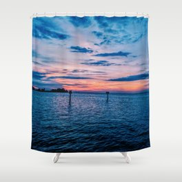 Sunset on the Gulf of Mexico Shower Curtain