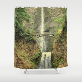 MULTNOMAH FALLS - OREGON Shower Curtain