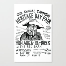 2. Canmore Folk Music Festival (1979) Canvas Print