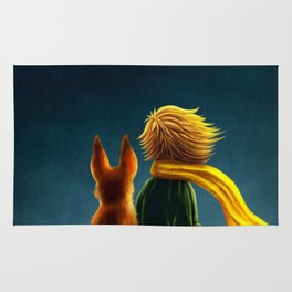 little prince and the fox Rug