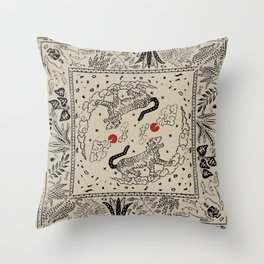 Duality in nature V.2 Throw Pillow