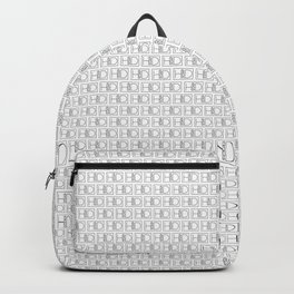 HD Soap Black Tiled on White Backpack