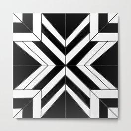 Black White Abstract Metal Print