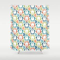 NGWINI - penguin love pattern 5 Shower Curtain