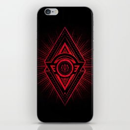 The Eye of Providence is watching you! (Diabolic red Freemason / Illuminati symbolic) iPhone Skin