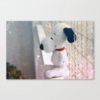snoopy Canvas Prints featuring Snoopy by UliD
