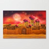 aladdin Canvas Prints featuring Aladdin castle by Tatyana Adzhaliyska