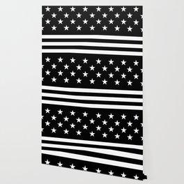 US Flag (Black/White) Wallpaper
