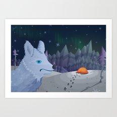 The Curious Arctic Fox Art Print