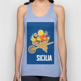 Sicilia - Sicily Italy Vintage Travel Unisex Tank Top