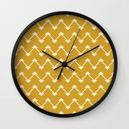 Jute in Mustard Yellow Wall Clock