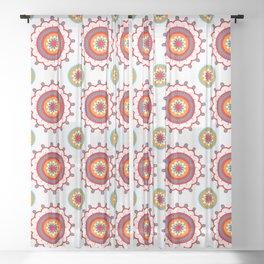 Retro Flower Sheer Curtain