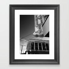 Donut World : Inner Sunset, San Francisco Framed Art Print