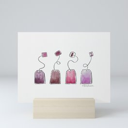 Pink Tea Bags Mini Art Print
