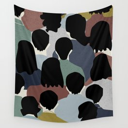 STANDING IN A CROWD Wall Tapestry