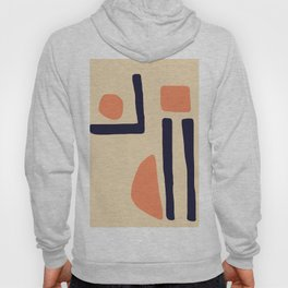 Coral and Blue Hoody