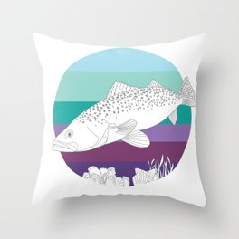 Speckl Trout Throw Pillow