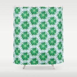 Salvia hispanica, green pattern Shower Curtain