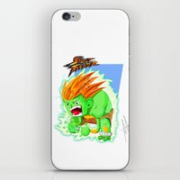 street fighter iPhone & iPod Skins featuring STREET FIGHTER - BLANCA by mirojunior