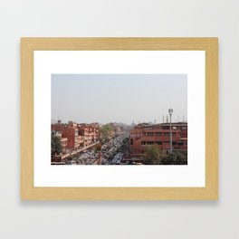 PINK CITY Framed Art Print