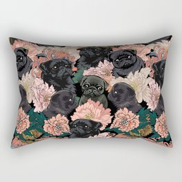 Because Black Pug Rectangular Pillow