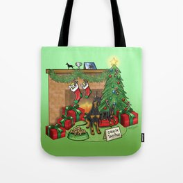Manchester Terrier Christmas Tote Bag