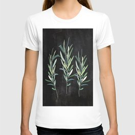 Eucalyptus Branches On Chalkboard T-shirt