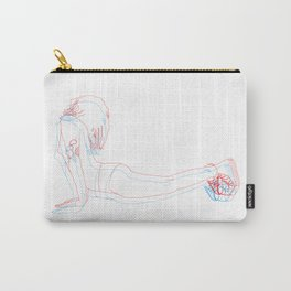 3d downward dog Carry-All Pouch