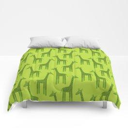 Giraffes-Green Comforters