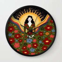 Healing, wholeness, refinement Wall Clock