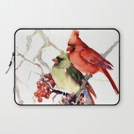 Cardinal Birds, birds art, two bird artwork cardinal bird Laptop Sleeve