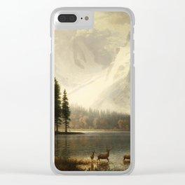 Albert Bierstadt Estes Park Colorado Whyte's Lake Clear iPhone Case